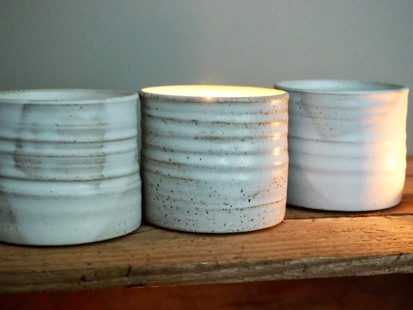 Soy Wax Candle in Handcrafted Ceramic Vessel