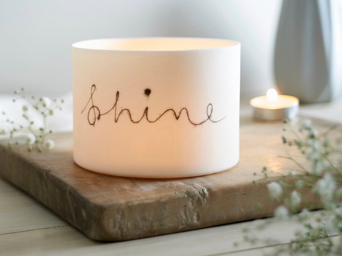 Large Porcelain Shine Tealight Holder by Jack Laverick