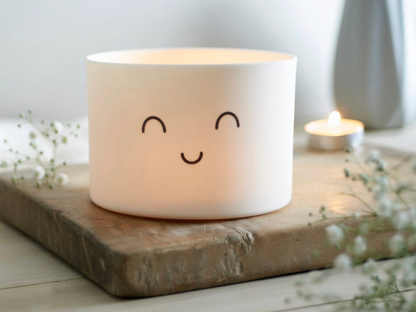 Large Porcelain Smile Tealight Holder by Jack Laverick