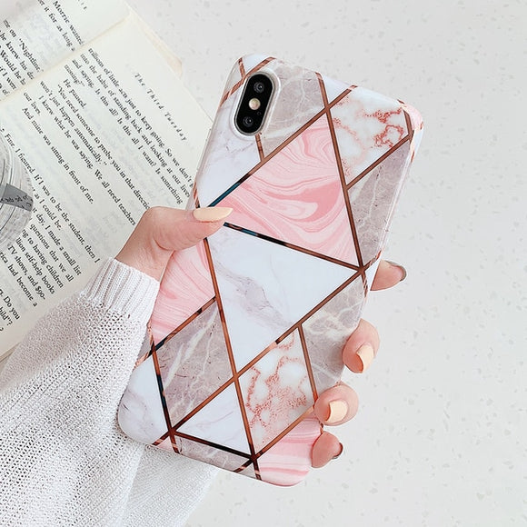 Marble Diamond iPhone Case - Coverio Cases