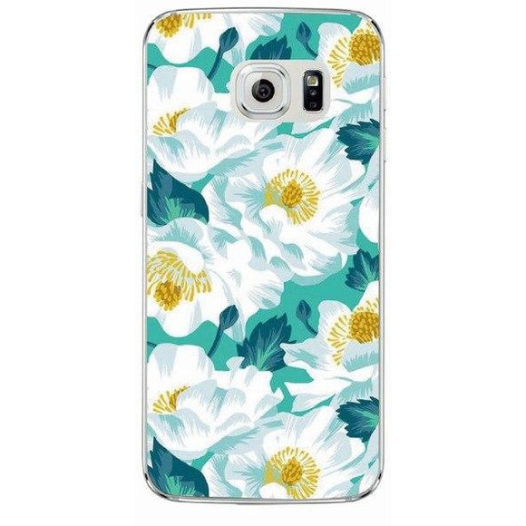 White Floral Case - Coverio Cases
