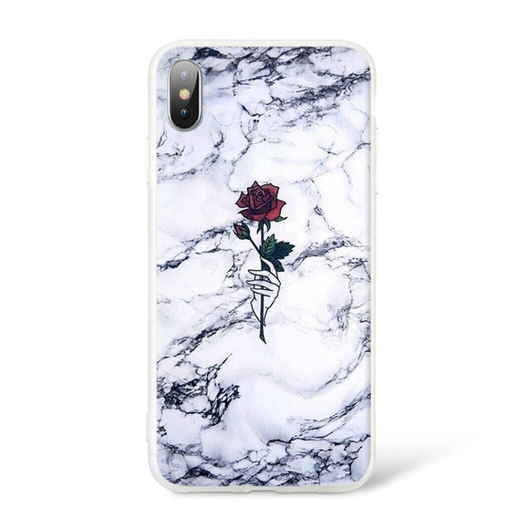 Marble Flower Case - Coverio Cases