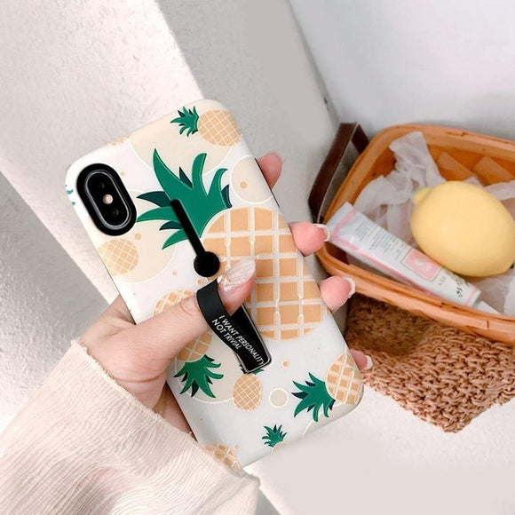 Marble Pineapple Ring Case - Coverio Cases