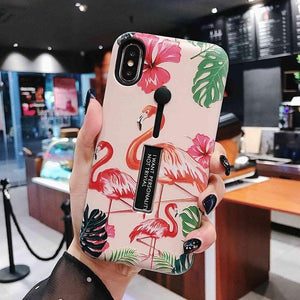 Marble Flamingo case - Coverio Cases