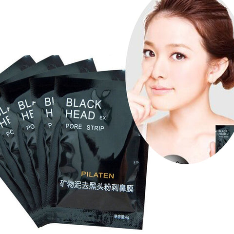 100 Pcs/lot PILATEN  Face Care Nose Facial Blackhead Remover Mask Minerals Pore Cleanser Black Head EX Pore Strip Nose Mask