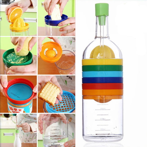 Image of Bottle Funnel Juicer Grater Egg Cracker Shredding Opener Egg Separator Measuring Cup Cooking tools