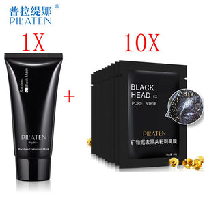1 Set PILATEN Blackhead Removal Facial Mask Nose Black Head Acne Treatments Face Skin Care Peel Off Mask