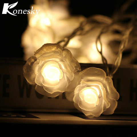 10-LED Love Rose LED String Lighting Night Light Flower fairy lights Party Wedding Christmas Fairy Decor