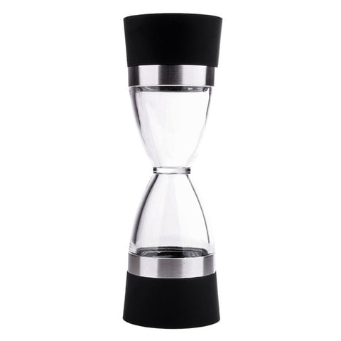 2 In 1 Manual Pepper Mill Salt Pepper Spice Grinders Hourglass Shape Salt Pepper Mills Cooking Tools Kitchen Gadgets