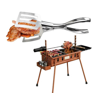 1Pc Stainless Steel Barbecue Clip Bread Meat Vegetable Clamp Cooking Tools Portable Outdoor BBQ Tongs Gadgets