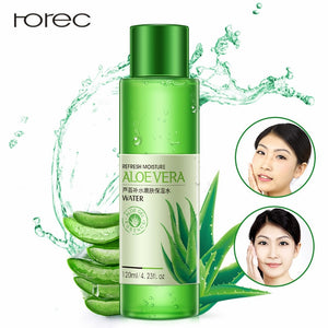 120ML Natural Aloe Vera Face Smoothing Hydrating Moisturizing Toner Oil Control Shrink Pores Brighten Skin Color Women Skin Care