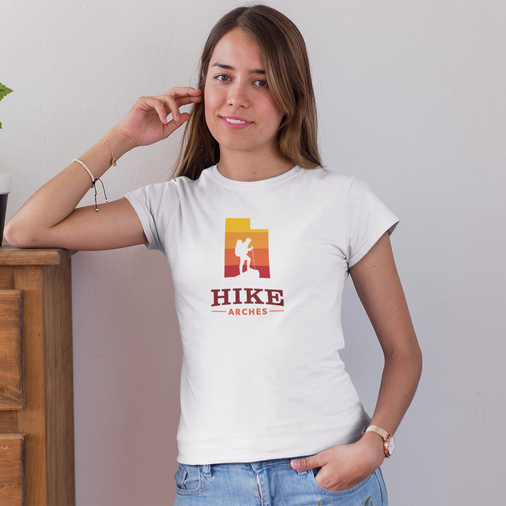 Women's Hike Arches National Park t-shirt