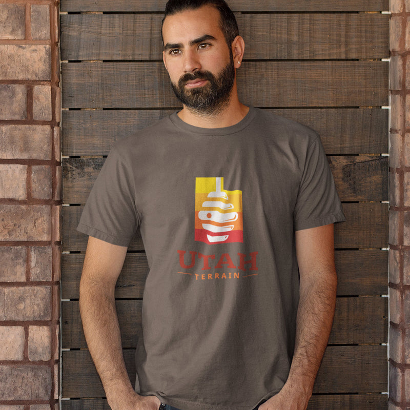 Men's Utah Beehive T-shirt brown