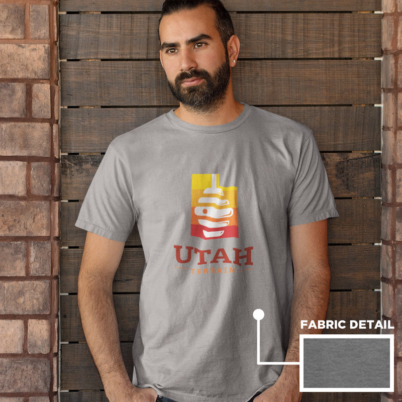 Men's Utah Beehive T-shirt deep heather