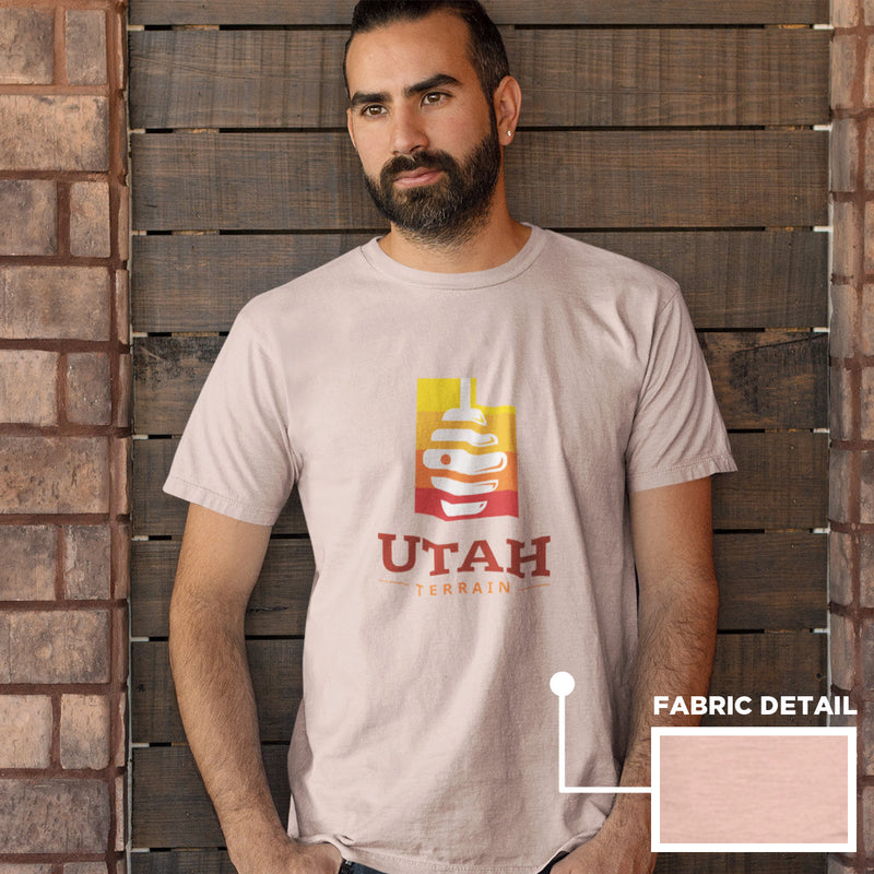 Men's Utah Beehive T-shirt peach