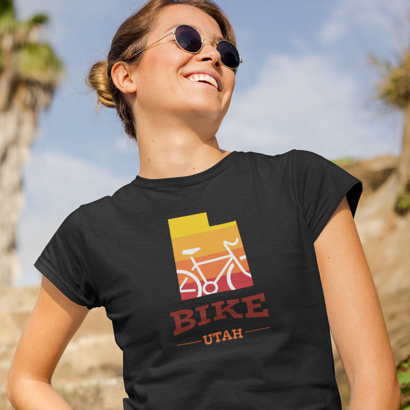 Women's Bike Utah Gradient T-shirt black