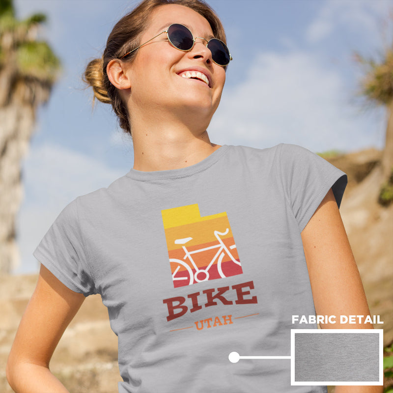 Women's Bike Utah Gradient T-shirt ahtletic
