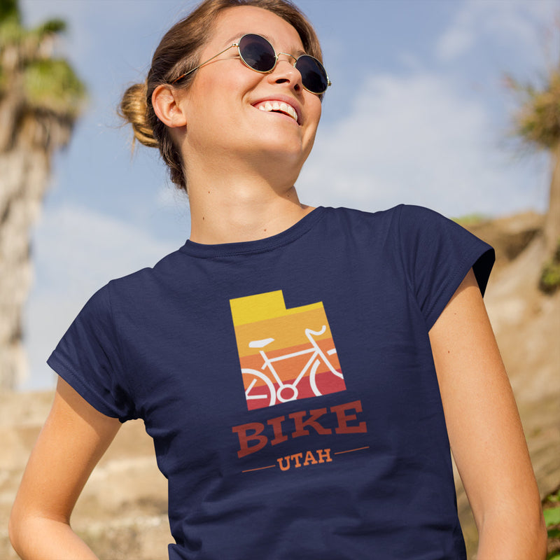 Women's Bike Utah Gradient T-shirt navy