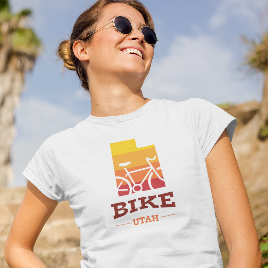 Women's Bike Utah Gradient Tee