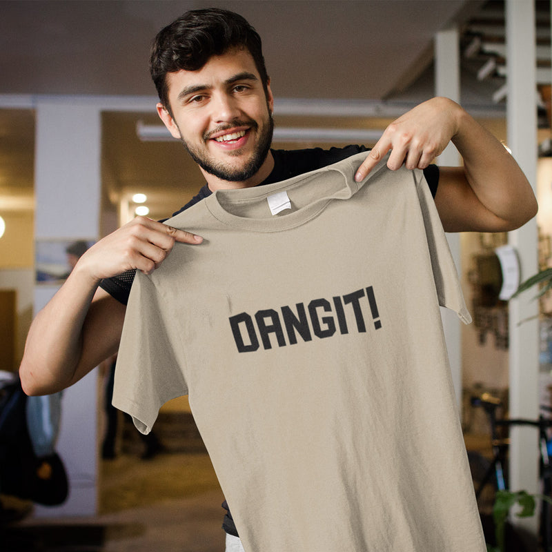 Men's Dangit! Tee cream