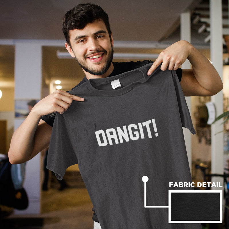Men's Dangit! Tee black heather