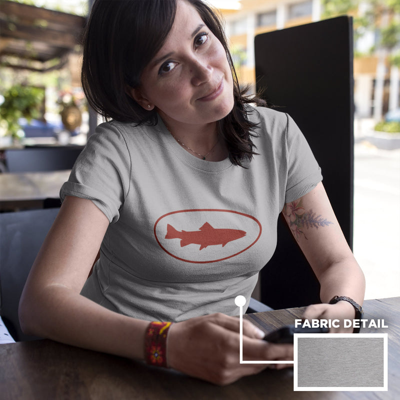 Women's Fish Oval t-shirt grey