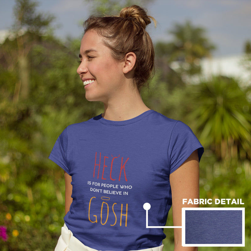 Women's Heck Gosh t-shirt heather blue