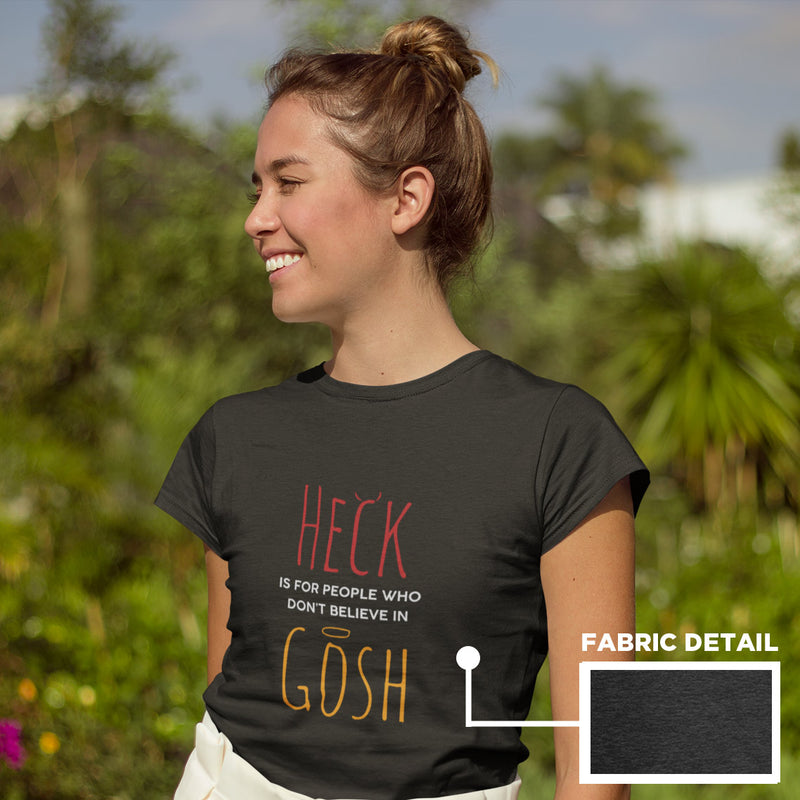 Women's Heck Gosh t-shirt heather