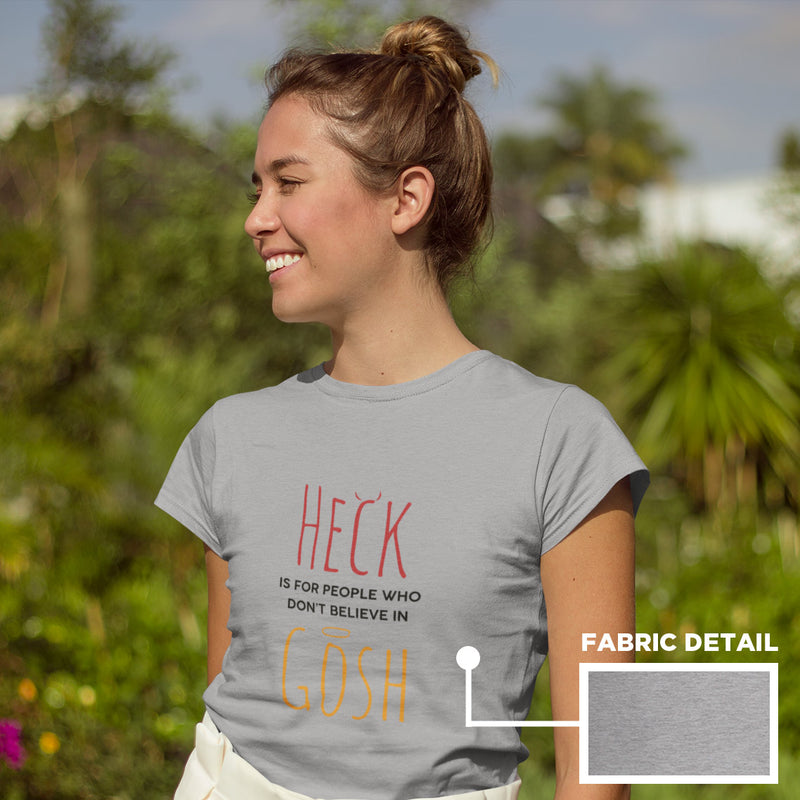 Women's Heck Gosh t-shirt grey