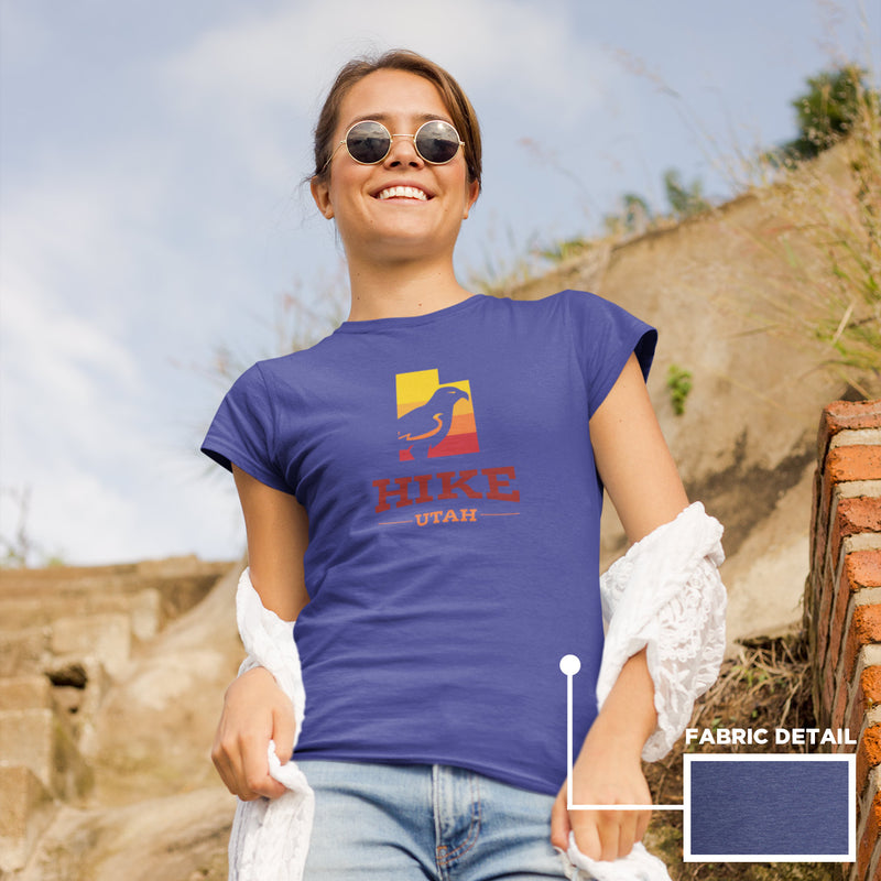 Women's Hike Utah Hawk Gradient t-shirt blue heather