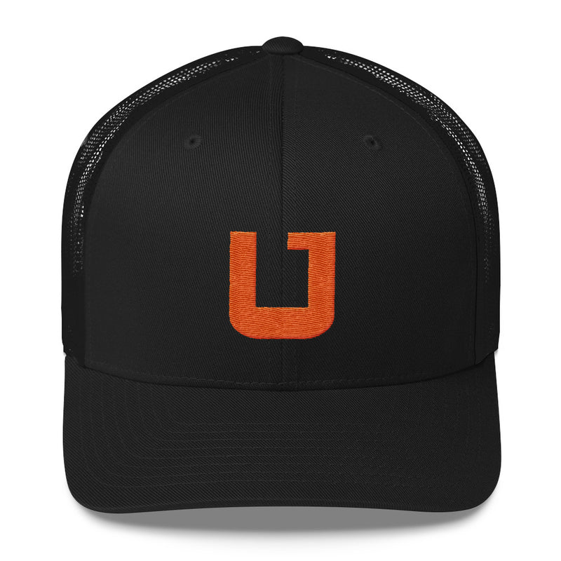 Utah Terrain Orange U Trucker Hat black
