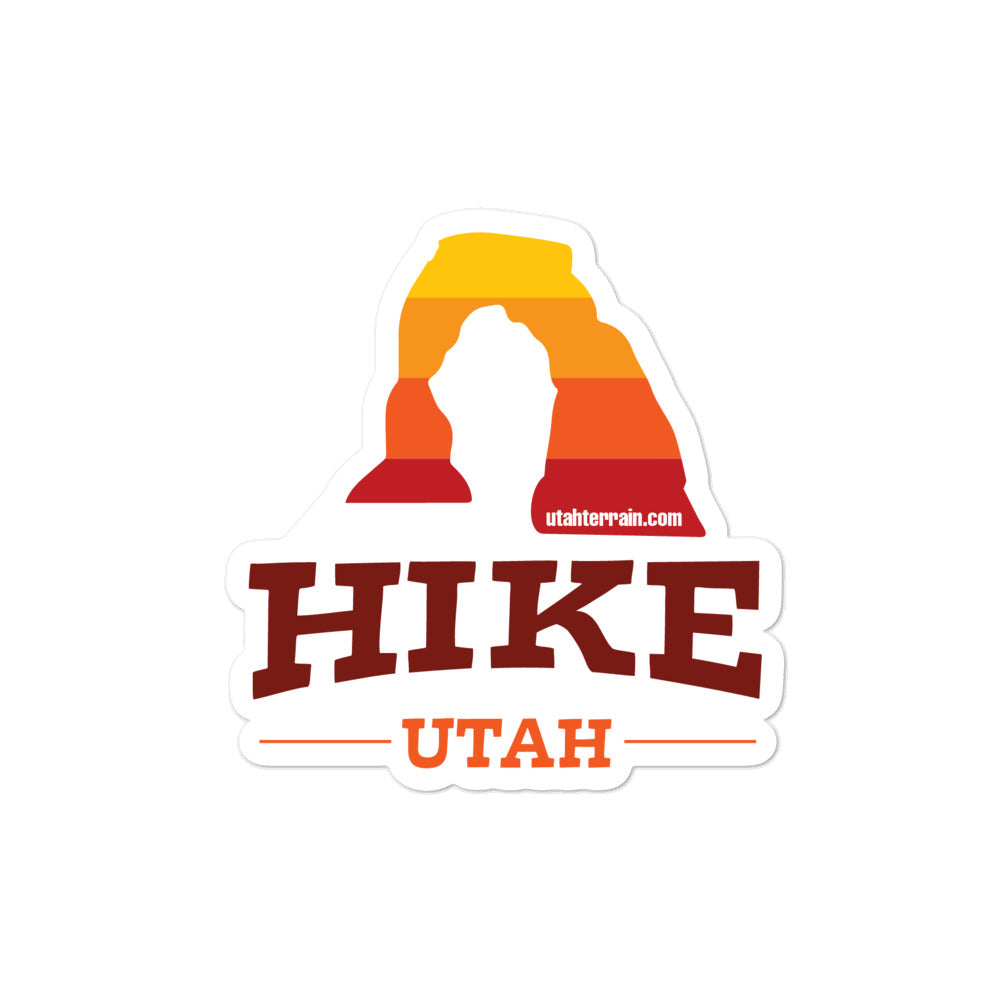 "Hike Utah 4x4"" sticker"