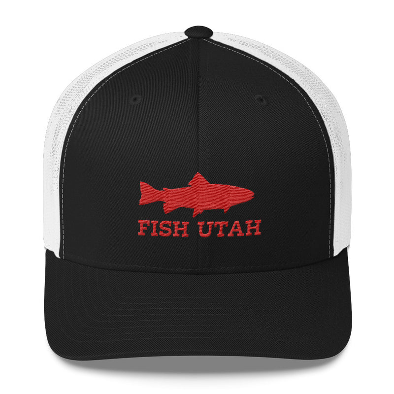 Fish Utah Trucker Hat white and black
