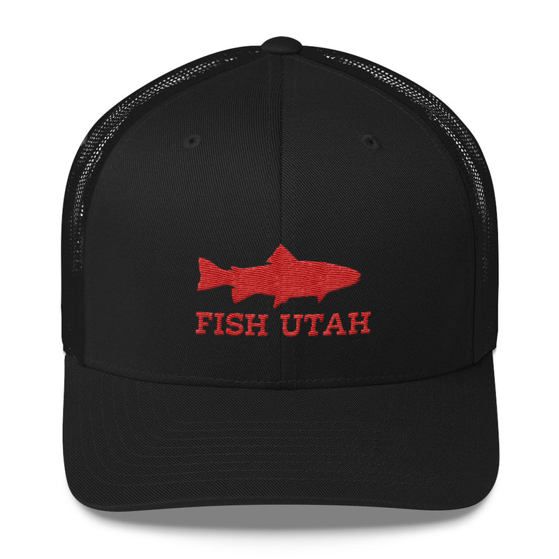 Fish Utah Trucker Hat black