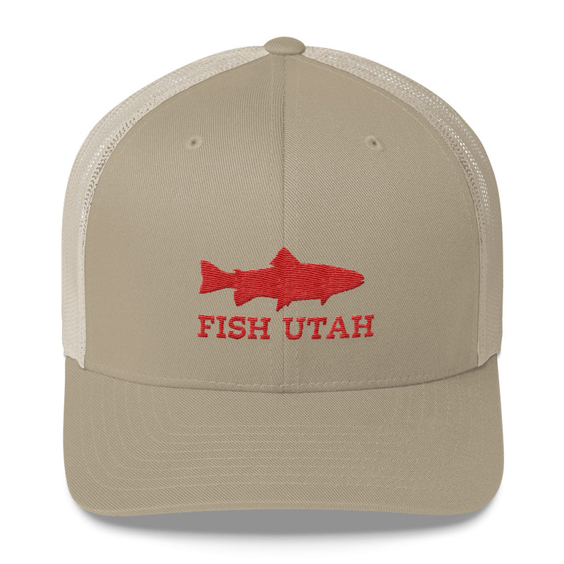 Fish Utah Trucker Hat khaki
