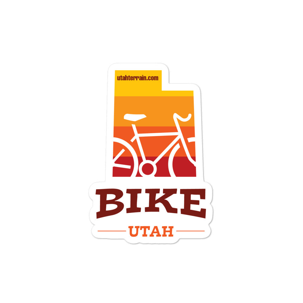 "Bike Utah 4x4"" sticker"