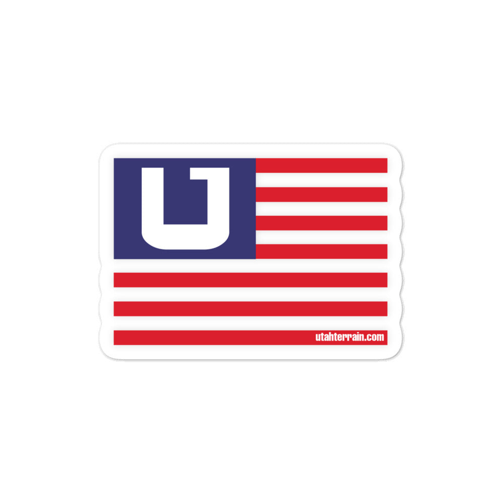 Utah Terrain flag sticker