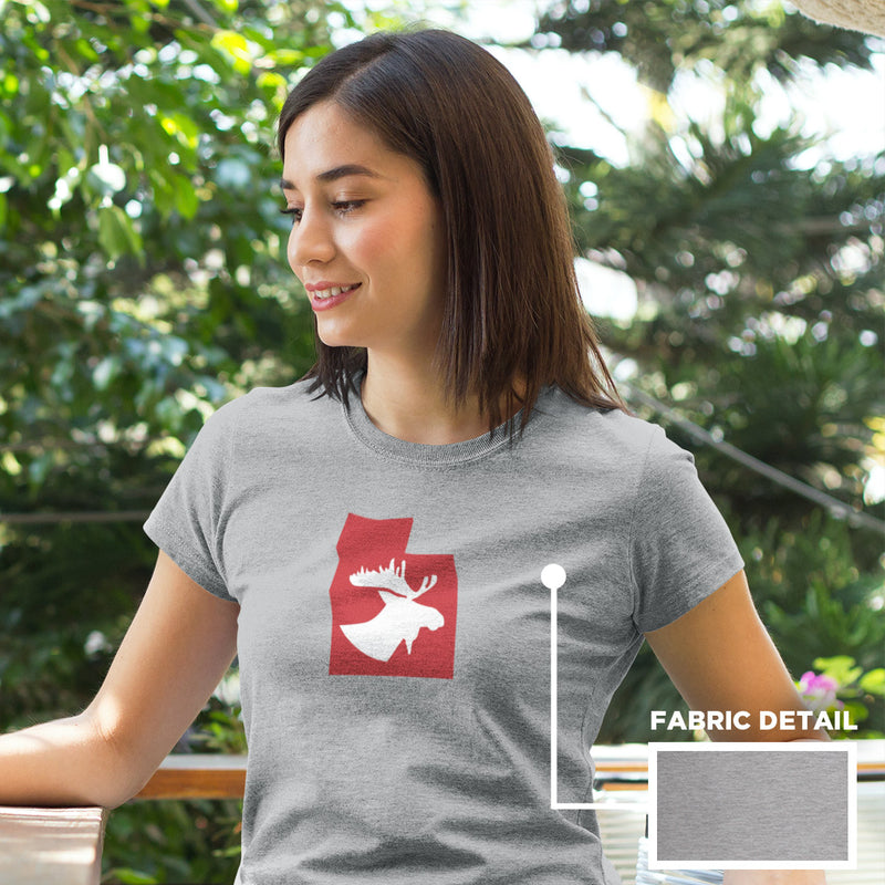 Women's Moose Silhouette t-shirt grey