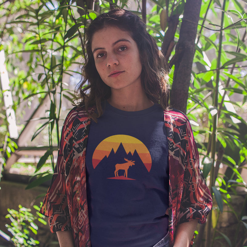 Women's Mountain Moose t-shirt navy