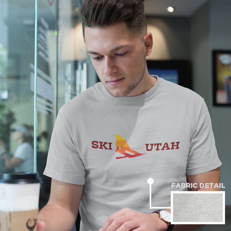 Men's Ski Utah skiing t-shirt athletic