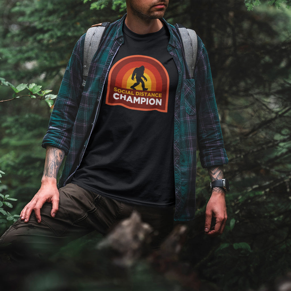 Men's Social Distance Champion Bigfoot T-Shirt