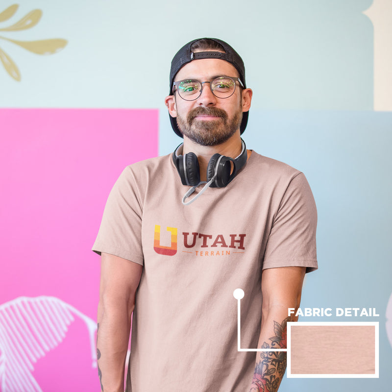 Men's Utah Terrain Logo T-shirt peach