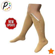 Load image into Gallery viewer, Closed Toe 15-20 mmHg Moderate Zipper Compression Knee Length Circulation Socks