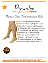 Load image into Gallery viewer, Premium Sheer 15-20 mmHg Moderate Compression Leg Calf Open Toe Traditional Socks