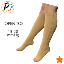 Load image into Gallery viewer, Senior's 15-20 mmHg Moderate & 20-30 mmHg Firm Compression Open/Closed Toe Mix & Match Zipper Socks