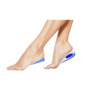 Foot Ankle Heel Cup Gel Silicone Shock Absorbing Cushion Support Blue - FREE
