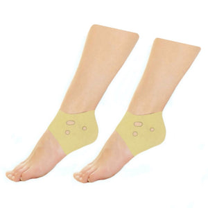 Neoprene Ankle Heel Protector Reduce Pain Foot Sleeve - Beige