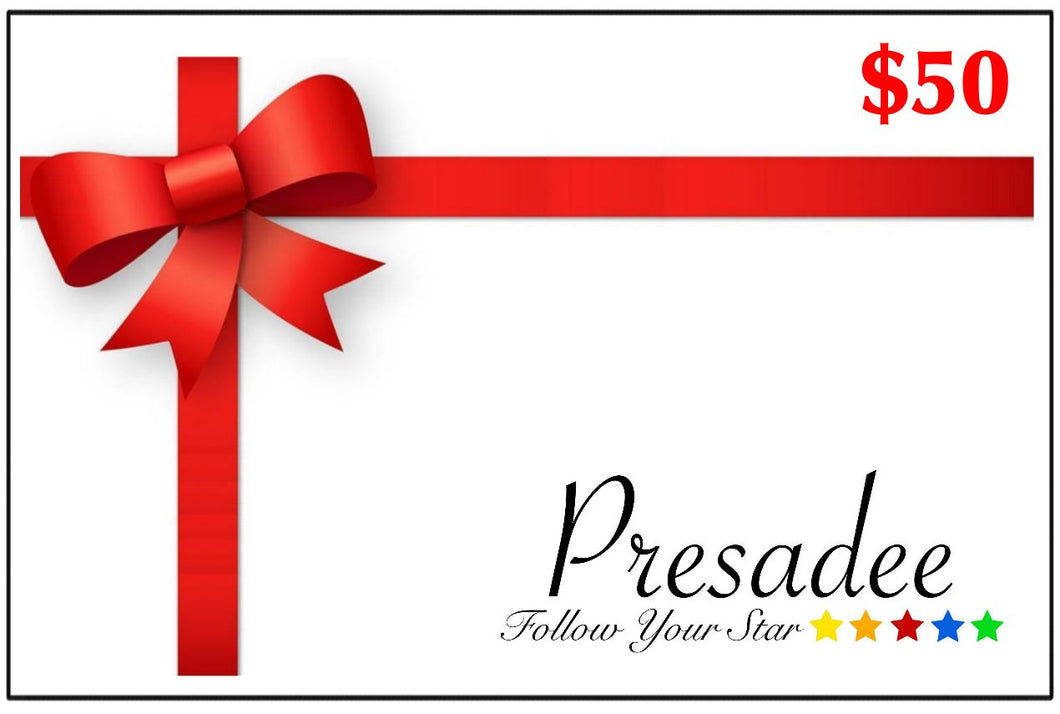 Presadee Digital Gift Card - $50.00