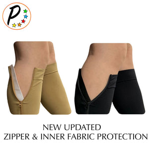 Premium Footless 20-30 mmHg Firm Compression With YKK Zipper Leg Swelling Shin Calf Sleeve