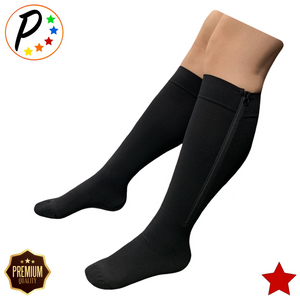 Senior's Premium 20-30 mmHg Firm Compression YKK Zipper Leg Swelling Open/Closed Toe Mix & Match Socks